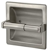 Amazon.com - Brushed Nickel Recessed Toilet Paper Holder ...