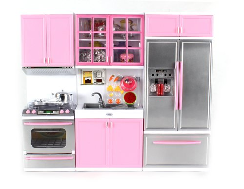 Modern Kitchen Battery Operated Toy Kitchen Playset