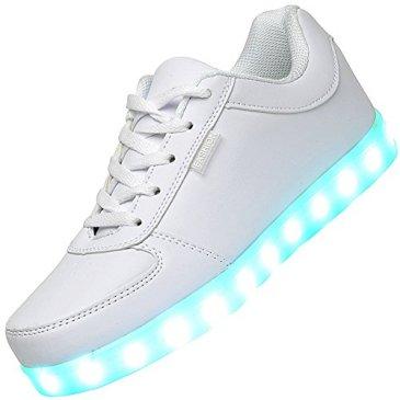 Odema Women USB Charging LED Shoes Flashing Sneakers