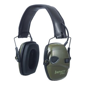 Howard Leight by Honeywell Impact Sport Sound Amplification Electronic Earmuff, Classic Green (R-01526)