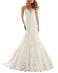 VenusDress Lace Wedding Dresses For Brides Long Mermaid ...