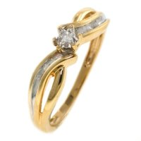 Popular Wedding Ring: Yellow Gold Diamond Promise Ring