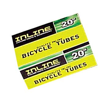 Inline Boxed Tube 650 x 25C / 26 x 1 PV / Extra long 48mm Stem. Case of 10 Tubes.