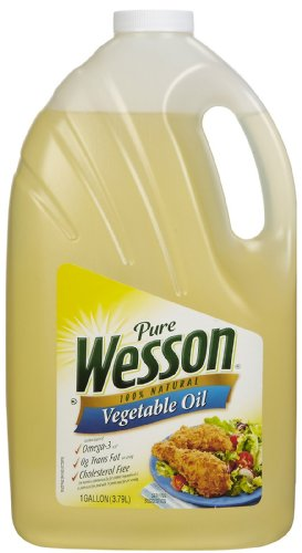 Wesson 100 Pure Vegetable Oil 128 oz Food Beverages