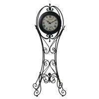 Floor Time Wrought Iron 69 1/2 Inch Tall Floor Clock Home ...