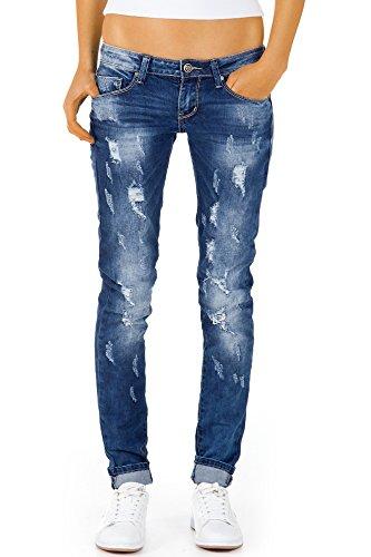 Bestyledberlin Damen Jeans Boyfriend zerrissene Röhrenjeans Hüftjeans, Stretch Damenjeans Hose j51kw