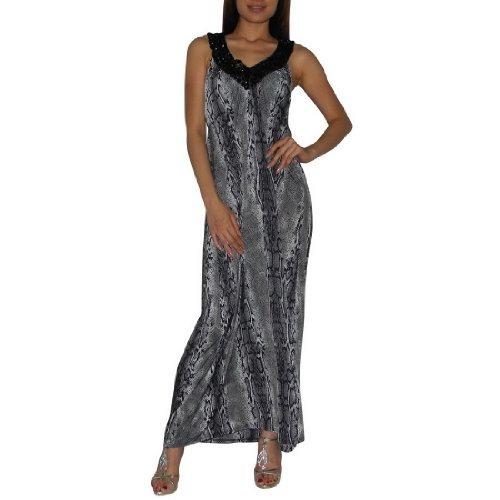 Frauen Thai Exotische Sexy Voll-Länge Elegant Spaghetti Wide Straps Langes Kleid / Partykleid - Größe: Medium