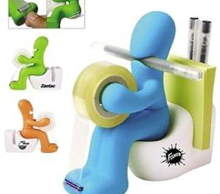 Gag tape dispenser, post-it and paper clip holder