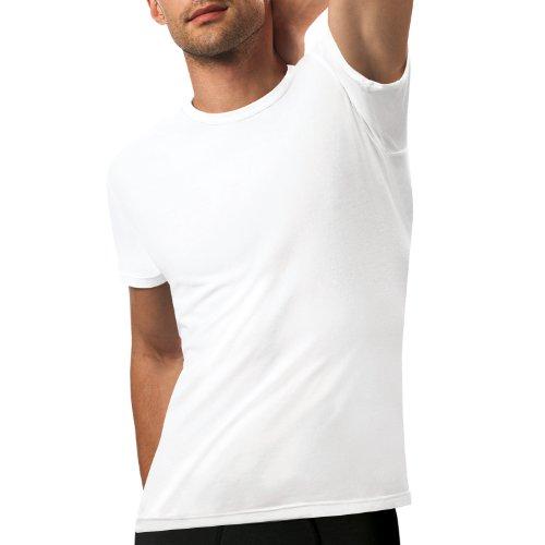 Nur Der Herren Unterhemd 887652/T-Shirt 3D-Flex Rundhals, Einfarbig, Gr. Large (Herstellergröße: 6 L), weiß