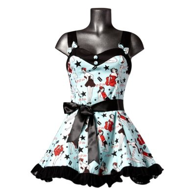 Hell Bunny Minikleid MINI DIXIE DRESS lightblue/red