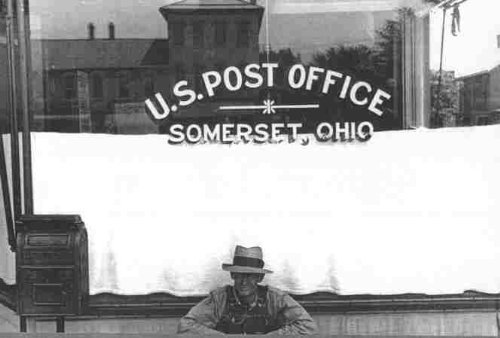 Photo Somerset Ohio Post Office Summer 1938