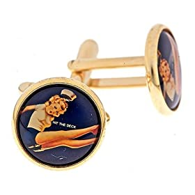 pinup girl cufflinks