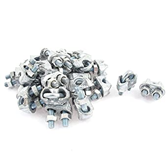 3mm 1/8 Inch Metal Wire Rope Cable Clamp Clips 24pcs