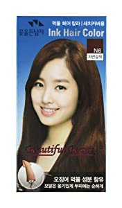 Amazon.com : SQUID INK HAIR COLOR CREAM (NATURAL BROWN N6 ...