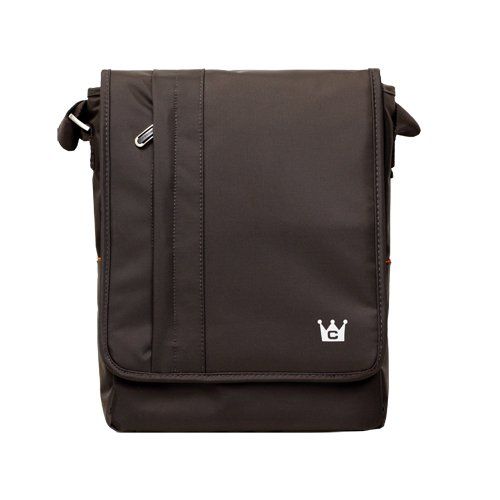 CaseCrown Vertical Multi Pocket Messenger Bag (Chocolate Brown) for the Apple iPad