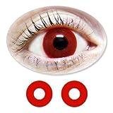 Rote Motivlinsen BIONORA Farbige Kontaktlinsen rot Blutaugen Jahreslinsen inklusive Behälter