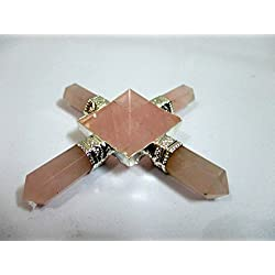 Exquisite Rose Quartz Pyramid Energy Generator Conical 4 Points Wow Healing Reiki Sacred Gift Pyramid Generator Crystal Pencil Point Programmable Divine Spiritual Crystal Therapy Massage Positive Energy Mental Peace Love Strength Psychic Awareness Family Bonding X-mas Christmas Gift Business Success Vastu Progress Prosperity Power Confidence Booster Mothers Day Fathers Day Best Result Top Quality A++ Grade Best Seller Worldwide India Asia