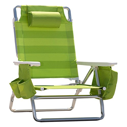 nautica beach chairs circle chair target reclining portable with insulated cooler cup holder headrest lime green