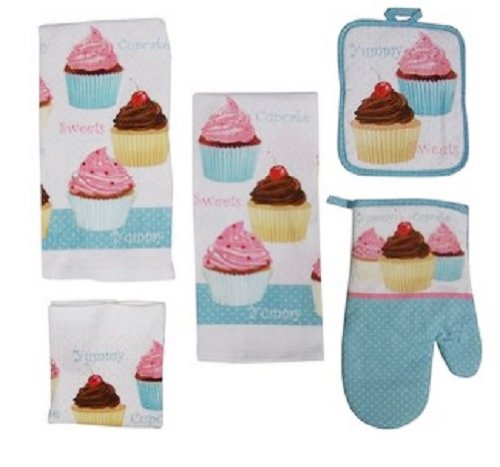 kitchen dish towels affordable tables top best cloth reviews 2016 2017 on flipboard by 7 piece too cute cupcake set with pot holders and oven mitt
