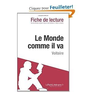 Amazonfr Le Monde Comme Il Va De Voltaire Fiche De