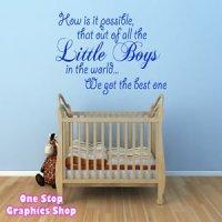 1Stop Graphics - Shop Best Little Boy Wall Art Quote ...