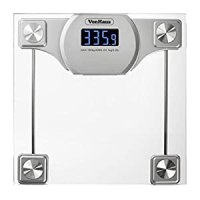 Amazon.com - VonHaus Digital Bathroom Scale - Glass/Silver ...