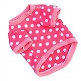 WXBUY Pet Dogs Fleece Fur Coat Clothes Puppy T-shirts Pink M