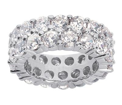 450-ct-TW-Ladys-Prong-Set-Round-Cut-Diamond-Eternity-Wedding-Band-Ring-in-14-kt-White-Gold-in-Size-9
