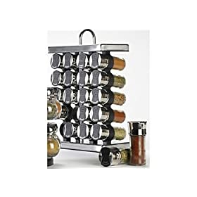 Olde Thompson 20-Jar Stainless Spice Rack