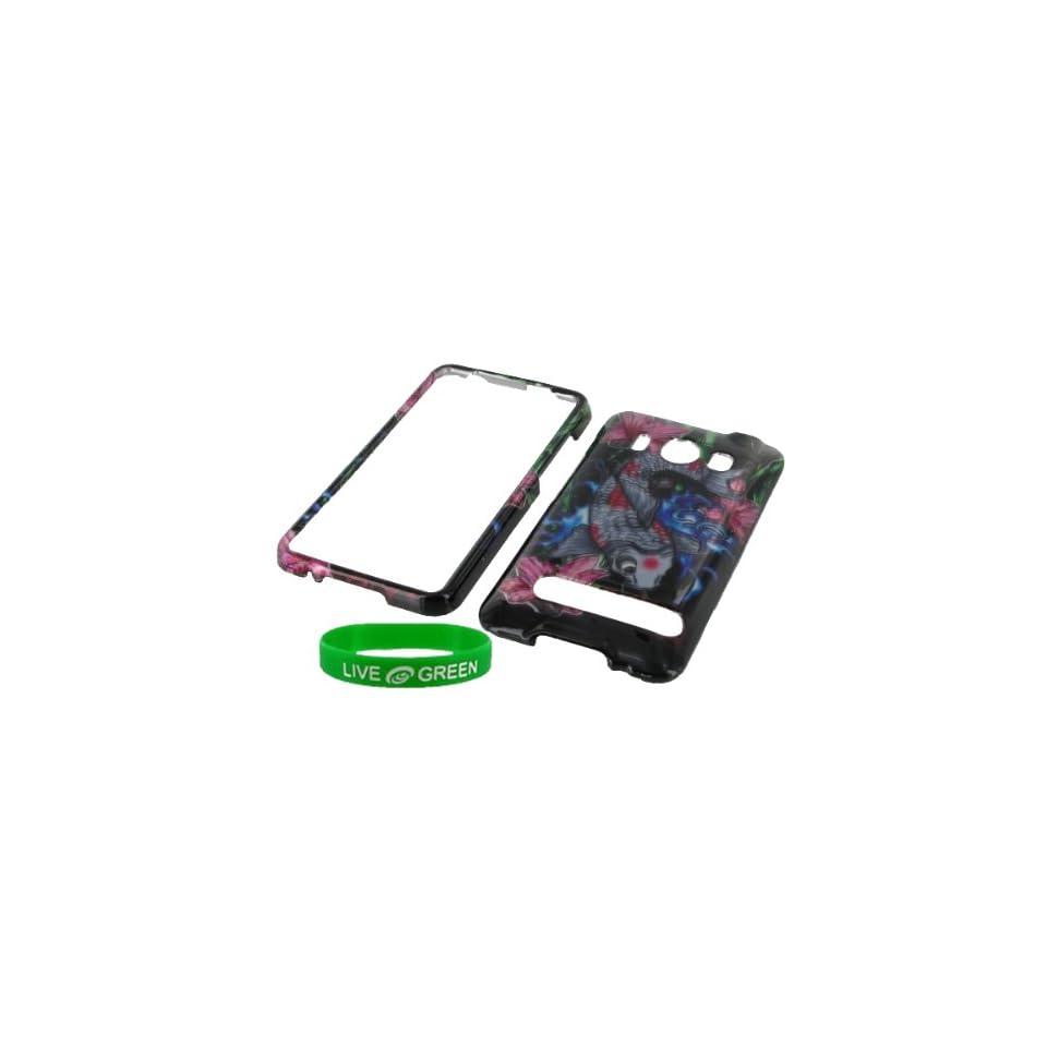 Koi Fish Design Snap On Hard Case for HTC EVO 4G Phone