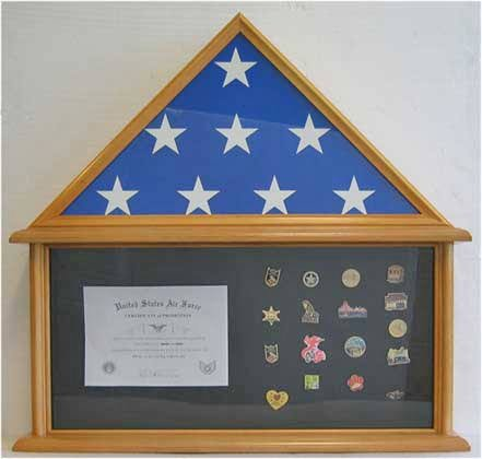 Military Burial Flag Display Case