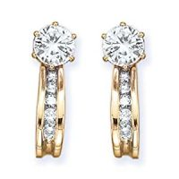 Amazon.com: 10K Yellow Gold 1/4 ct. Diamond Earring