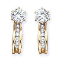 Amazon.com: 10K Yellow Gold 1/4 ct. Diamond Earring ...