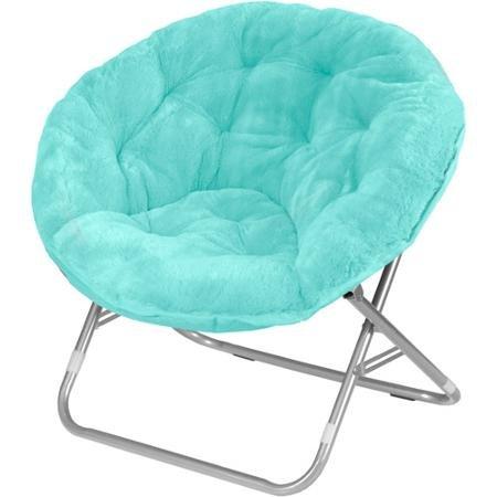 Mainstays FauxFur Saucer Chair Aqua Wind  eHouseholdscom