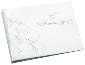 Amazon.com : 25th Anniversary Swirl Dots Guest Book
