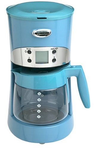 Hamilton Beach Eclectrics 40113 All-Metal 12-Cup Coffeemaker, Intrigue Blue