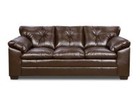 BEST Simmons Coffee Bonded Leather Sofa DISCOUNT ...