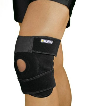 Bracoo Breathable Neoprene Knee Support Sleeve - Active Wear, Adjustable Size, Black
