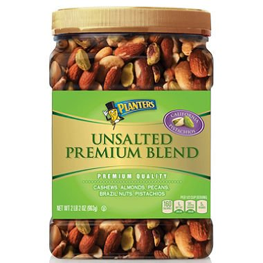 Planters Unsalted Premium Quality Blend Nuts with Cashews