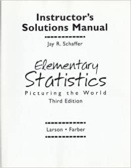 Elementary Statistics Picturing the World Third Edition