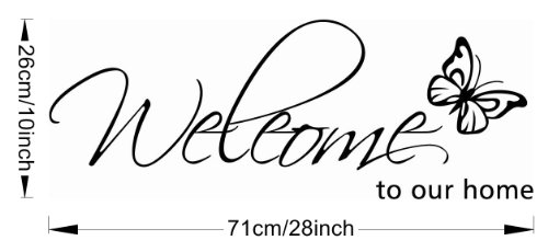 MZY Butterfly Pattern Welcome to Our Home Quotes Saying