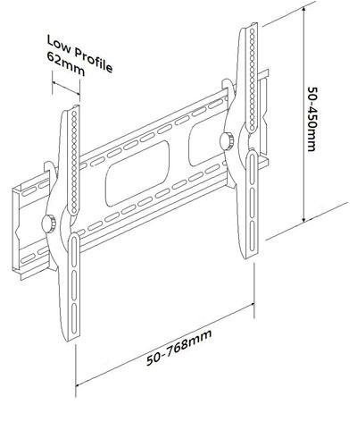 Premium Tilting HDTV Plasma Wall Mount for 37 42 46 50 52