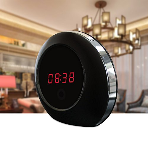 Littleadd-Hidden-Camera-Clock-Spy-Camera-Remote-Control-Video-Nanny-Cam-for-PetBaby-Monitoring-8GB-Included-Bright-Black