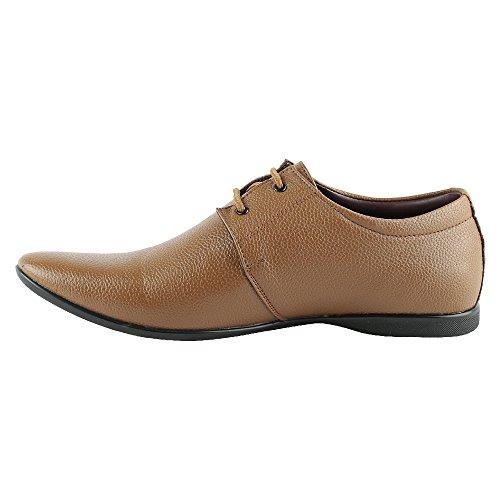 mancini shoes - Mancini Men's Tan Leather Formal Shoes (450078165003) - 8 UK