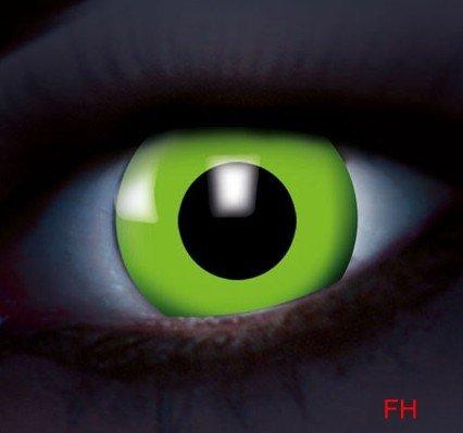 1 Paar farbige Kontaktlinsen Disco UV aktive Kontaktlinsen grün 12 monats Linse