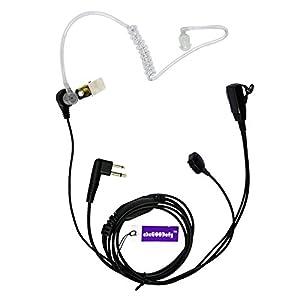 Covert Acoustic Tube Earpiece Headset Mic With Finger PTT