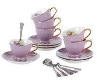 Jusalpha Porcelain Coffee Bar Espresso small Cups and ...