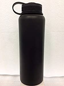 Hydro Flask Insulated Stainless Steel Water Bottle, Wide Mouth, 40-Ounce, Black Butte