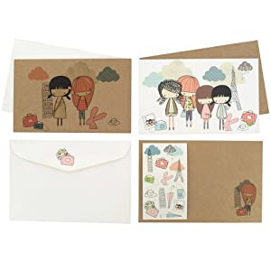 Paperchase Wallet Notecards, Day Trippers Design