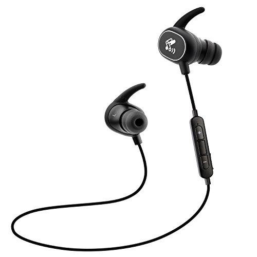 SoundPEATS(サウンドピーツ) Bluetooth イヤホン イヤホン 高音質 防水 防滴 ランニング中でも耳から外れにくい ワイヤレス ヘッドホン Bluetooth 4.1 apt-Xコーデック採用 ハンズフリー通話 CVC6.0 ノイズキャンセリング搭載 ワイヤレス イヤホン 【メーカー直販/1年保証付】 Q15 ブラック